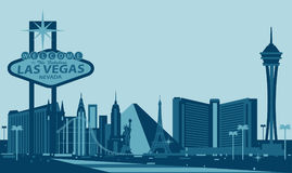 Horizon de Las Vegas photos libres de droits