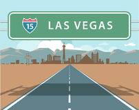Horizon de Las Vegas illustration stock