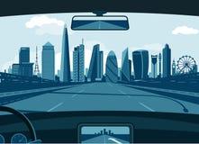 Horizon de Londres illustration stock