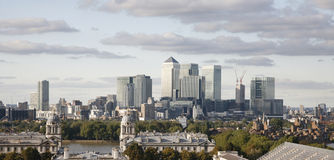 Horizon de Londres, quai jaune canari Photographie stock