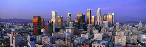 Horizon de Los Angeles Photos libres de droits