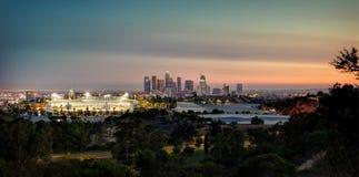 Horizon de Los Angeles de parc élyséen images libres de droits