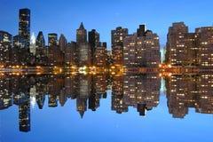 Horizon de Lower Manhattan Photos libres de droits