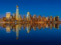 Horizon de Lower Manhattan Photographie stock