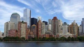 Horizon de Lower Manhattan, New York City. Photo libre de droits