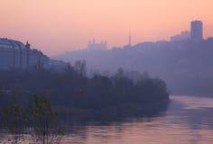 Horizon de Lyon Photos libres de droits