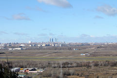 Horizon de Madrid Photo libre de droits