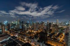 Horizon de Makati au coucher du soleil Makati est une ville aux Philippines Photos stock