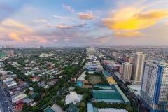 Horizon de Makati au coucher du soleil Makati est une ville aux Philippines Photo stock