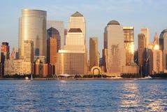 Horizon de Manhattan photographie stock libre de droits