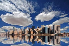 Horizon de Manhattan Photographie stock libre de droits