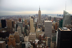 Horizon de Manhattan Photographie stock