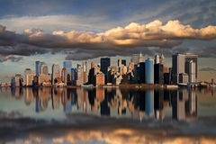 Horizon de Manhattan Images libres de droits