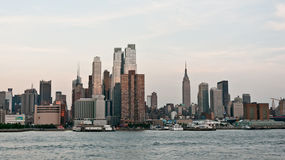 Horizon de Manhattan Photos libres de droits
