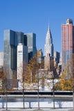 Horizon de Manhattan au lever de soleil New York City Photographie stock libre de droits
