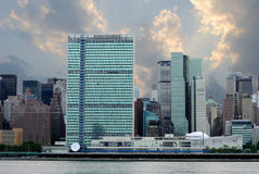 Horizon de Manhattan de Midtown Photographie stock