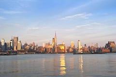 Horizon de Manhattan de Midtown Image libre de droits