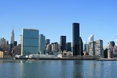 Horizon de Manhattan de Midtown Images libres de droits