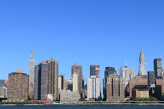 Horizon de Manhattan, New York City Photographie stock libre de droits