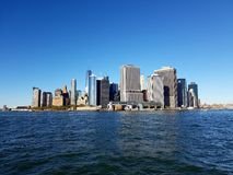 Horizon de Manhattan par jour Photographie stock