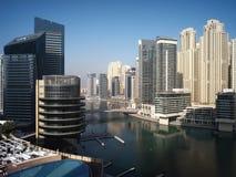 Horizon de marina de Dubaï Image stock
