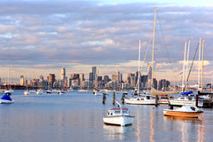 Horizon de Melbourne Photos stock