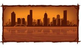 Horizon de Melbourne Australie illustration de vecteur