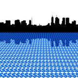 Horizon de Melbourne avec des dollars illustration libre de droits
