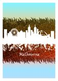 Horizon de Melbourne bleu et blanc illustration libre de droits