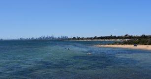 Horizon de Melbourne de Brighton Beach Gardens photo stock