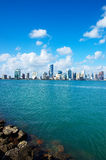 horizon de Miami Photographie stock