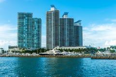 Horizon de Miami Beach Image stock