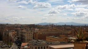 Horizon de midi de Rome image libre de droits