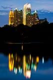 Horizon de Midtown d'Atlanta photos stock
