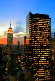 Horizon de Midtown de New York City photographie stock