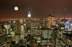 Horizon de Midtown de New York City Image libre de droits