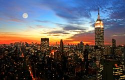 Horizon de Midtown de New York City Photographie stock libre de droits