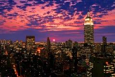 Horizon de Midtown de New York City Photographie stock libre de droits