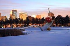 horizon de Minneapolis Photographie stock