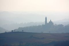 Horizon de Monferrato, Italie Images stock