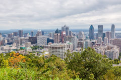 Horizon de Montréal Photos stock