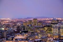 Horizon de Montréal de belvédère de Kondiaronk images libres de droits