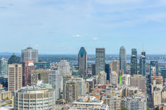 Horizon de Montréal en été photos stock