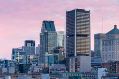 Horizon de Montréal de vieux port Image libre de droits