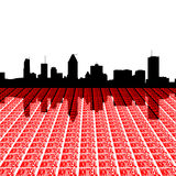 Horizon de Montréal avec le texte Photographie stock