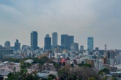 Horizon de Nagoya pendant le jour photographie stock
