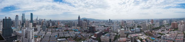 Horizon de Nanjing City Photos stock