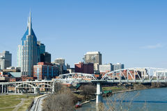 Horizon de Nashville Photographie stock libre de droits