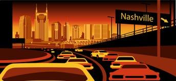 Horizon de Nashville Tennessee illustration stock