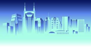 Horizon de Nashville Tennessee illustration de vecteur